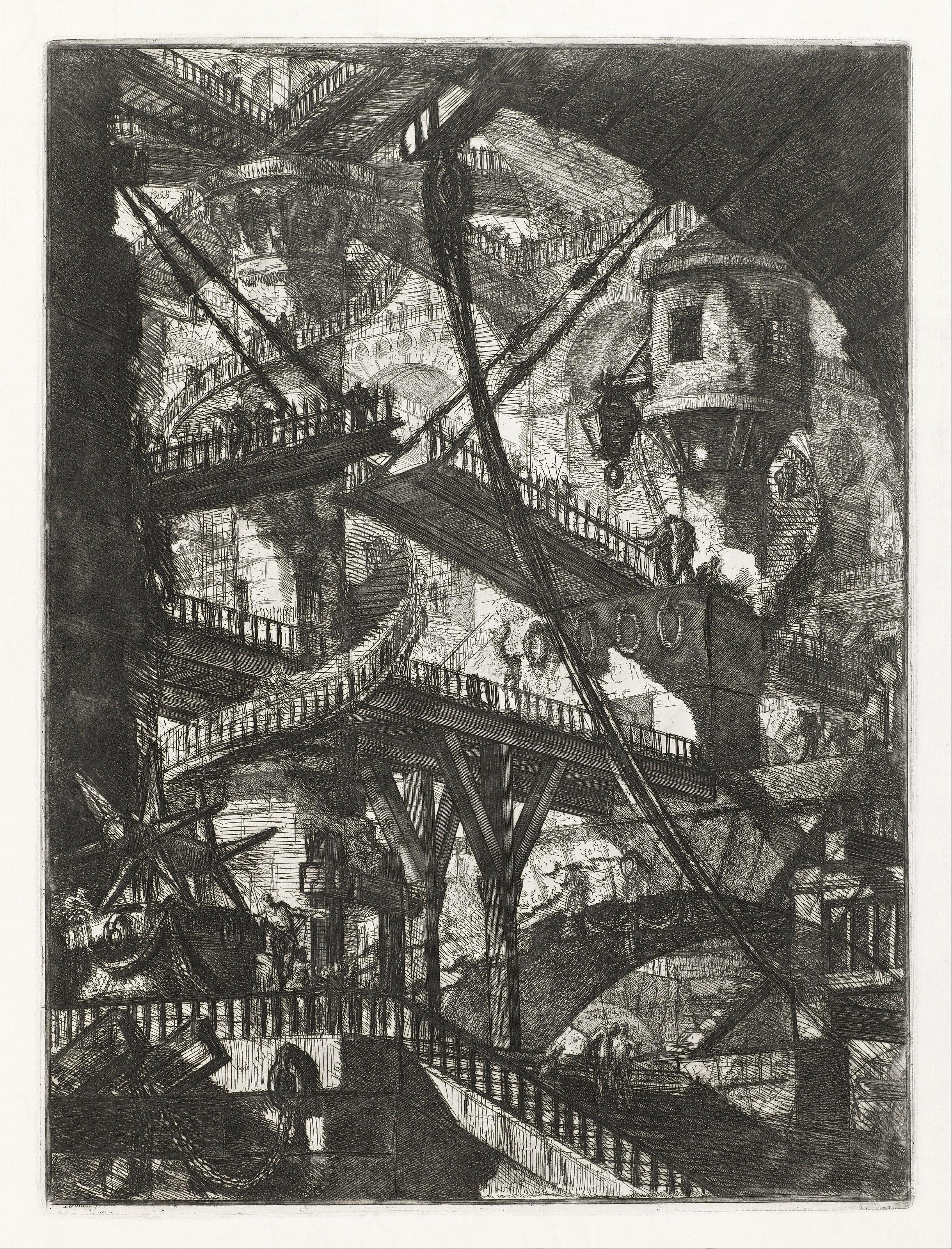 Giovanni_Battista_Piranesi_-_The_Drawbridge,_plate_VII_from_the_series_Carceri_d'Invenzione_-_Google_Art_Project