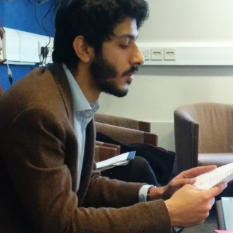The author reads his paper
